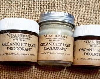 Pit Paste Deodorant | Organic Deodorant | Handmade Deodorant | Natural Deodorant | Aluminum Free | Cream Deodorant | Herbal Deodorant
