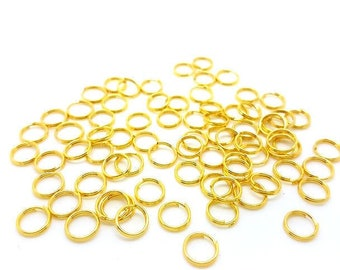 200 Junction rings double Gold 7mm