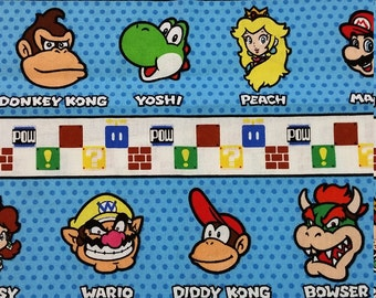 Mario Characters Pocket, AIO or Fitted Diaper