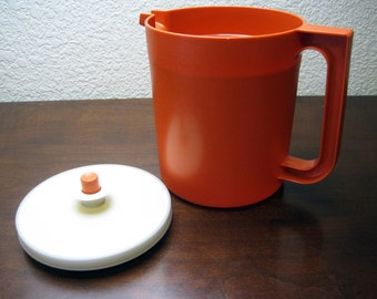 Orange 48 oz Drink Juice Pitcher 1.5 Quarts - Vintage Tupperware #1571