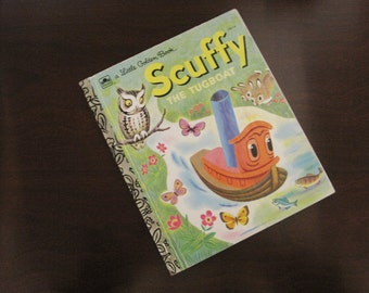 Scuffy The Tugboat – Vintage Children's Little Golden Book – 310-54
