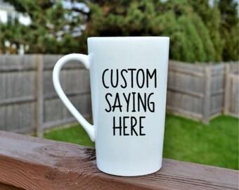 Custom Coffee Mug // Create your own Coffee Mug // Personalized Coffee Cup // Design your own Mug // Custom Glitter Coffee Mug