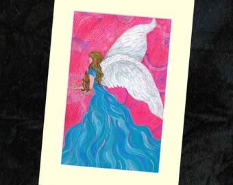 Angel Mounted Print