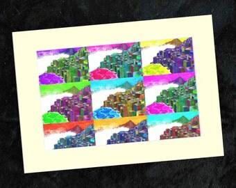 Giants Causeway Collage Print