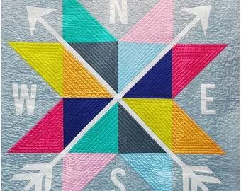 MODA Compass Quilt Kit by Moda Fabrics