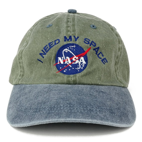 I NEED MY SPACE Nasa Meatball Embroidered 100% Cotton Cap