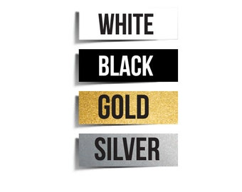 "Ironable Heat Transfer Vinyl 15"" x 12"" Black White Gold Silver"