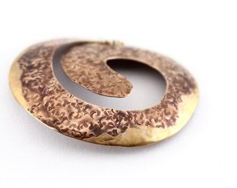 sculptural spiral brooch