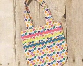 Little girls purse - Easter purse - Jelly bean purse - Polka dot purse - Child's bag - Toddlers purse - Spring purse