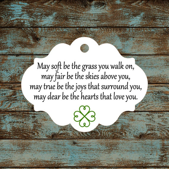 Favor Tags - Irish Blessing #696 Qty: 30 Tags