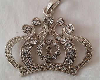 Princess Crown Pendant, Pendant, Chunky Bead Pendant, Bling, Necklace bling