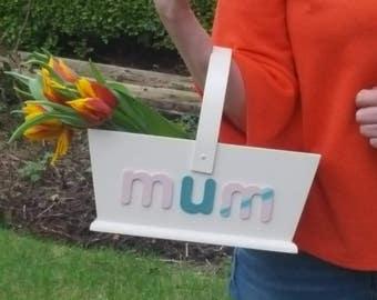 Gift for woman, mum. grandmother  gift  rustic garden trug/basket