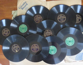 Lot of 10 Columbia 78 RPM vintage records