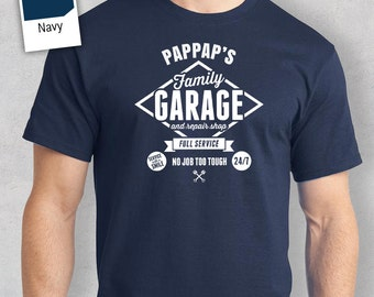 Pappap's Garage T-shirt, Personalized Pappap Gift, Pappap Birthday Gift, Pappap Gift, Pappap Shirt, New Pappap Gift, Pappap Tshirt