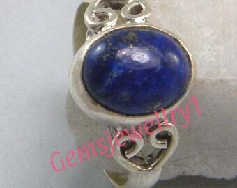 Lapis Lazuli Ring, Stone Ring , Silver Ring, Silver overlay Lapis Ring, Gemstone ring, Size 5, 6, 7, 8,9, 10, 11, 12, Ring-0314140423