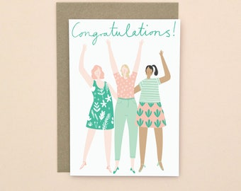 Congratulations Greetings Card A6
