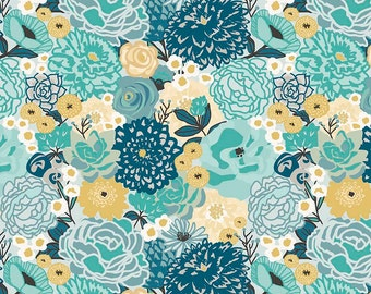 1 Yard Ava Rose by Deena Rutter for Riley Blake Designs-  5870 Blue Main