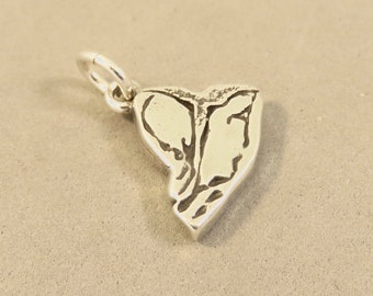 Sterling Silver 3-D T-BONE STEAK Charm Pendant Food Kitchen Meat Beef Chef Cook .925 Sterling Silver New kt104