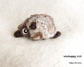 woolneppy baby - forest woolneppy made from natural coloured wool. OOAK softsculpture