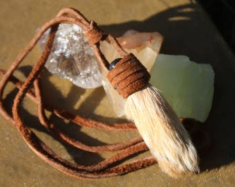 PRICE REDUCTION Leather Wrapped Rabbit's Foot Necklace