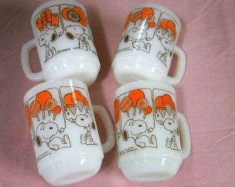 Vintage Fire King SNOOPY Mugs Dreaming of Sweets....3 Left