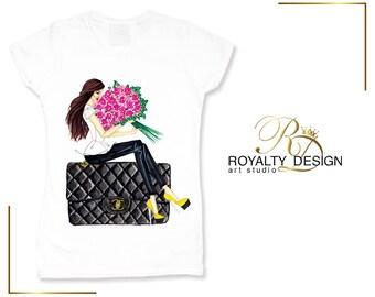 White stylish Fashion T shirt - Trendy tshirt - Blogger tshirts -Designer T-shirt