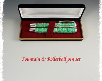 Fountain and Rollerball pen set.