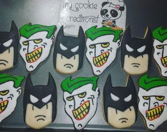 Classic Batman Joker Sugar Decorated Cookies