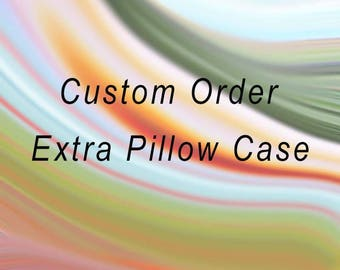Extra pillow case 20x30 inches or 20x36 inches (King size)