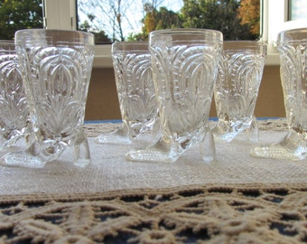Vintage Six Set Cut Crystal Stemware, Vintage Wine Coup, Lead Crystal, Wedding Toast, Stemware, Crystal Stemware, Wedding Gifts, Vodka