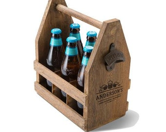 Beer Caddy, Personalized Beer Caddy, Father's Day, Groomsmen Gifts,  (GC1439)