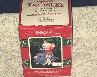 Vintage 1991 Enesco Tom, Tom The Pipers Son 6th Issue Mousery Rhymes Series NIB