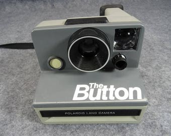 The Button Polaroid Land Camera Circa 1980's