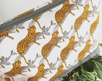 Leopard Print Big Cat Cosmetic Bag / Make-up Bag / Pencil Case / Pouch