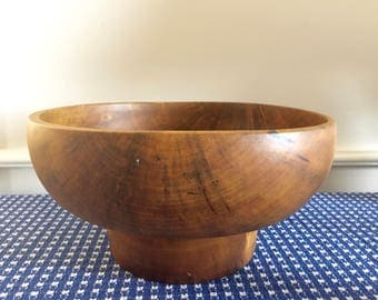 David Auld Wooden Bowl Haiti RARE Grommier Tree Handcrafted