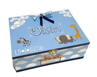 Baby Boy Time Capsule Keepsake Box