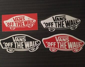 Vans Stickers, Set Of 4. | Decals Skateboard Skate BMX Snowboard Surf Motocross