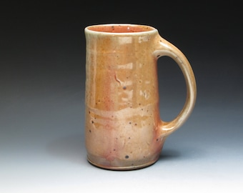 Nic Collins Large Anagama Wood Fired Mug or Tankard, Wood Fired Stoneware Mug, Studio Pottery Mug, One of the Gnarly Dudes from England.