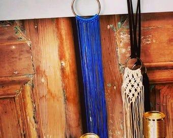 Statement necklace, Macrame necklace, Boho necklace, Macrame ntatement, Long necklace, Fashion necklace, Hippie necklace, Textile necklace
