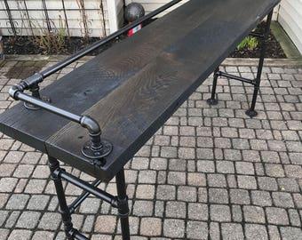 Reclaimed Barn Wood XL Sofa Bar Table
