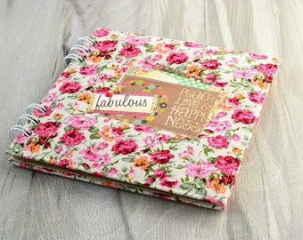 Photo album Mini album flowers Polaroid guest book Gift for girl Instax album Polaroid album Travel photo album Instagram album Scrapbooking