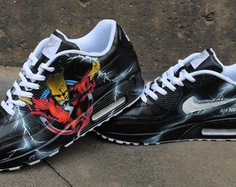 Custom Painted Nike Air max 90 Thunderdome Techno Sneaker Art *UNIKAT* All Sizes