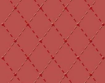 Embossing Folder STITCHES Diamonds Harlequin Sewing A6 Card Making Scrapbooking Paper Crafts Gift for Her Him