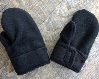 Baby - Toddler - Child - Mittens Stay-Put Velcro Gloves - Fleece - 6-12 Months - 2T - 3T/4T - Organic Cotton