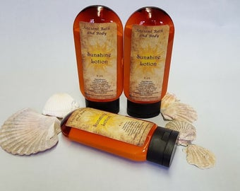 Sunshine Lotion 4oz, Organic Lotion, Natural Lotion, Homemade Lotion, VEGAN, Body Lotion, Skin Moisturizer, PARABEN FREE