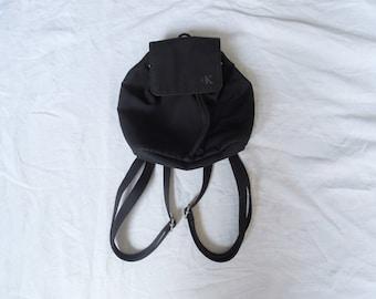 90s Calvin Klein Mini Drawstring Backpack
