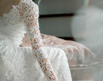 Long sleeves wedding dress, Wedding gown, Lace wedding dress, Mermaid wedding dress, Winter wedding dress, Bridal dress, 0069 // 2017
