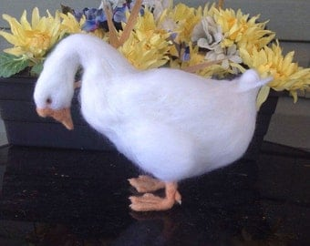 Made to Order Goose Waterfowl Needle Felted