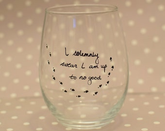I Solemnly Swear I am up to no Good - Harry Potter Wine Glass