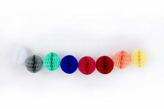 "3"" Honeycomb Balls, Tissue Honeycomb, Paper Pom Pom, Party Decor, Wedding Decor, Baby Shower, Honeycomb Decor, Tissue Pom Poms"
